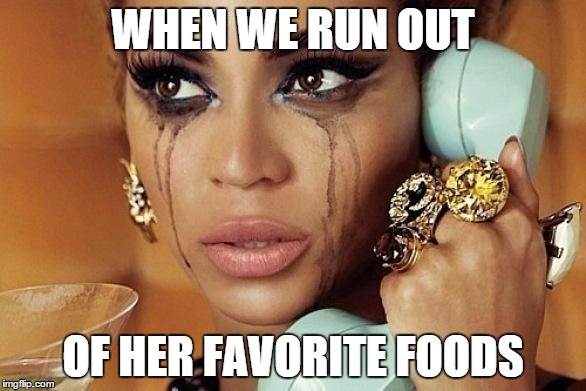 out of food